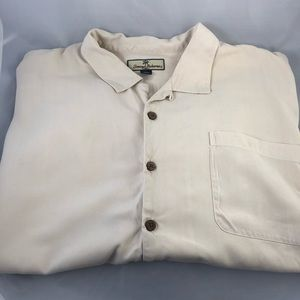 Tommy Bahama Mens Silk Button Shirt Size XXL